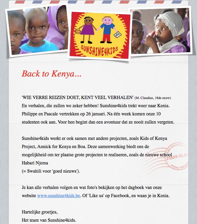 S4K Terug naar Kenia
