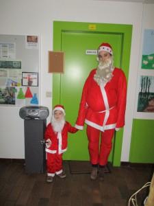 De grote en kleine kerstman!